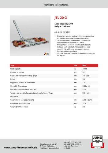 JTL 20 G Product Details