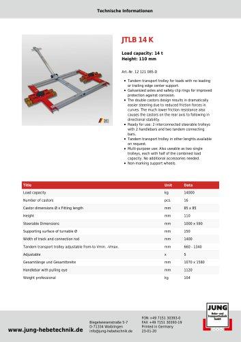 JTLB 14 K Product Details