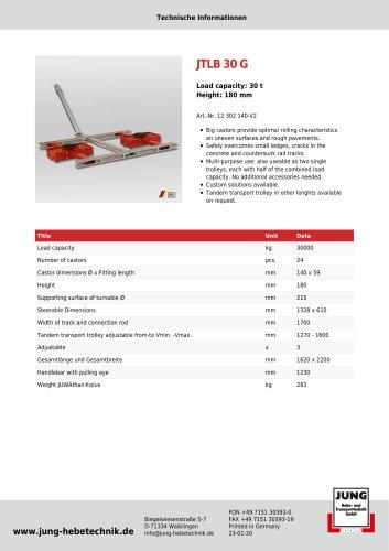 JTLB 30 G Product Details