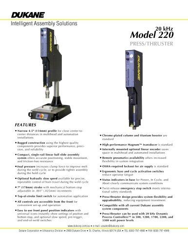 20 kHz Model 220 Plastic Assembly System