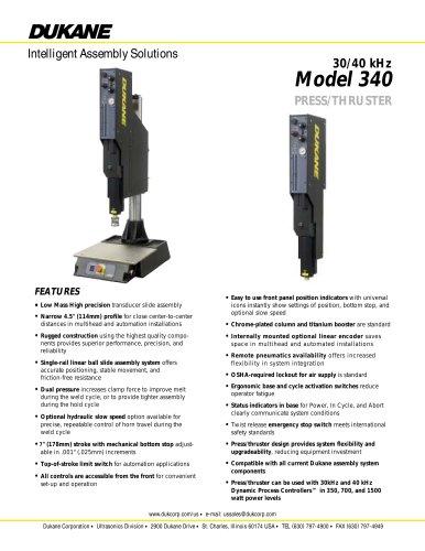 30/40 kHz Model 340 Press System