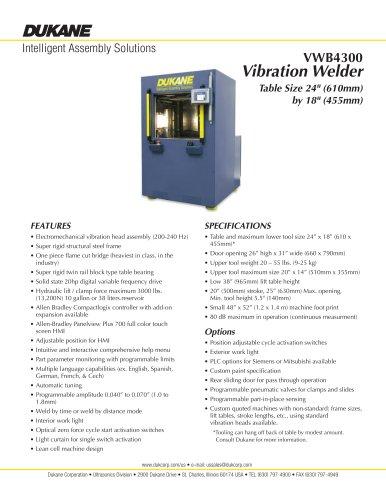 Dukane VW4300 Vibration Welder