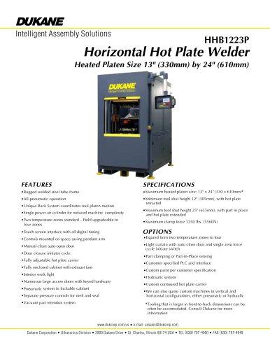 Horizontal Platen Welder Model HHB1223P