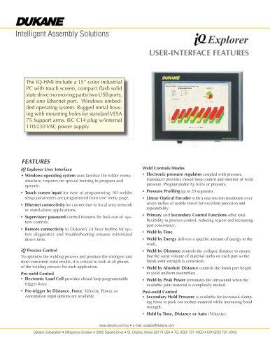 iQ Explorer User-Interface Features