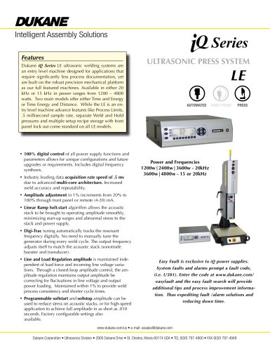 iQ Series LE Ultrasonic Press System