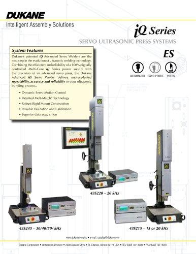iQ Series Servo Ultrasonic Press Systems