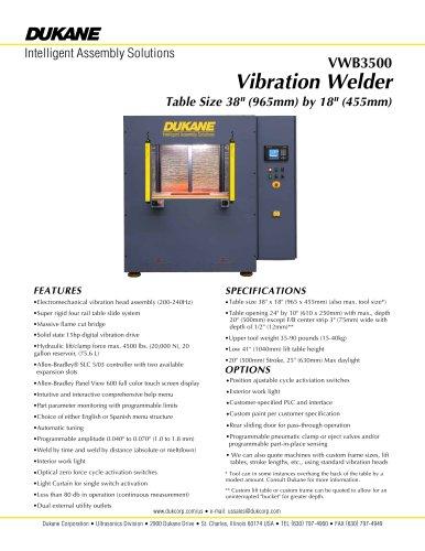 Model 3500 Vibration Welder