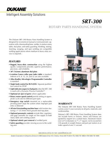SRT-300 ROTARY PARTS HANDLING SYSTEM