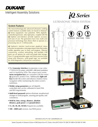 ultrasonic press system