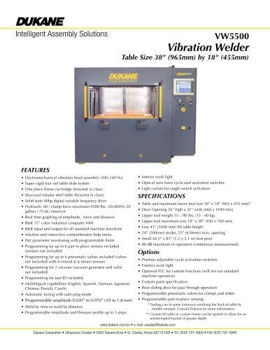 VW 5500 Vibration welder