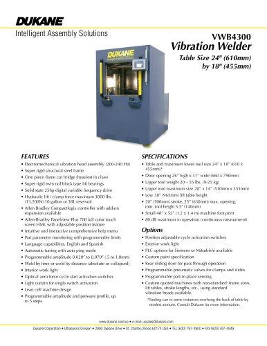 VWB4300 - Vibration Welder