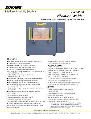VWB4500 Vibration Welder