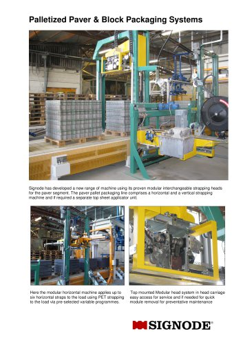 BS & H Palletized Paver & Block Packaging Systems