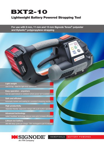 BXT2-10 Lightweight Battery Powered Strapping Tool