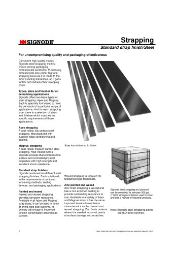 Signode - Apex and Magnus Steel strapping