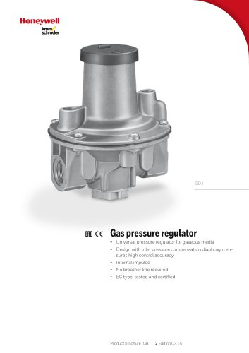 Gas Pressure Regulator GDJ