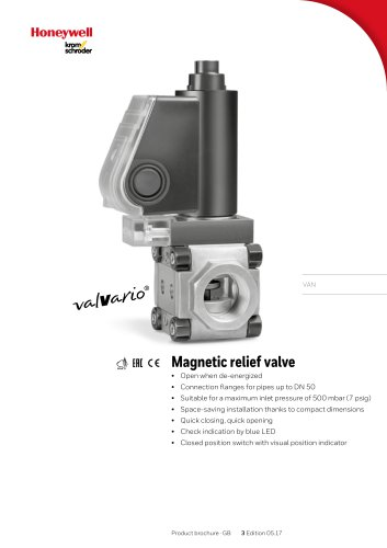 Magnetic relief valves VAN