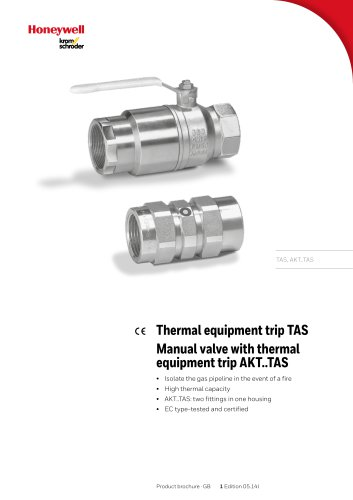Manual Valve with thermal equipment TAS
