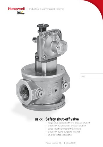 Safety shut-off valve