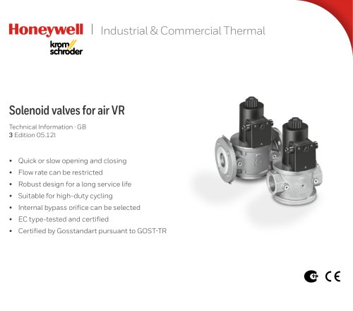 Solenoid Valves for air VR