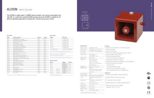 A105N 'Appello' Speech & Tone Alarm Sounder
