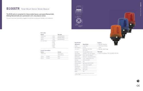 B100STR Panel Mount Xenon Strobe Beacon