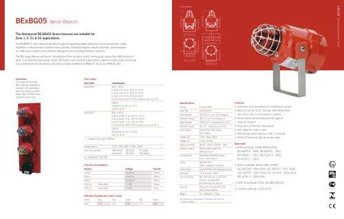 BExBG05 Xenon Beacon for Zone 1&2, 21&22