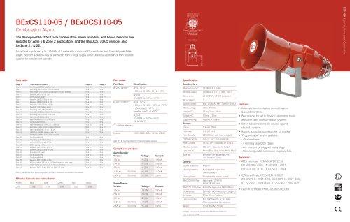 BExCS110-05 Combined sounder & beacon (Zone 1&2, 21&22)