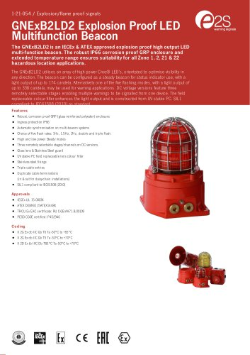 GNExB2LD2 Explosion Proof LED Multifunction Beacon