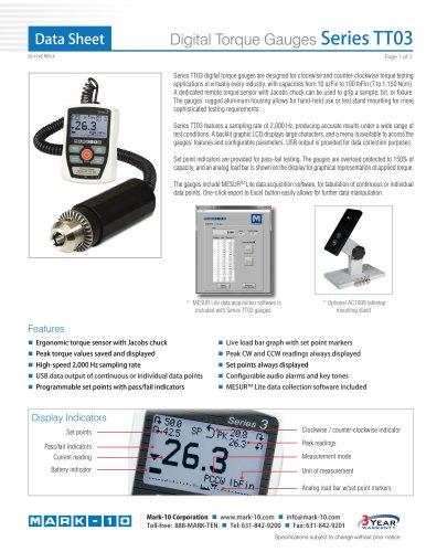 Digital Torque Gauges Series TT03