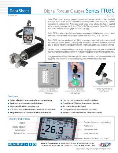 Digital Torque Gauges Series TT03C