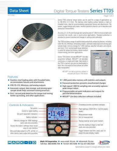 Digital Torque Testers Series TT05