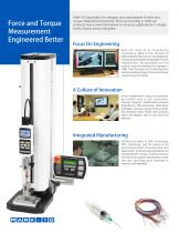 Force and Torque Measurement Products - 2