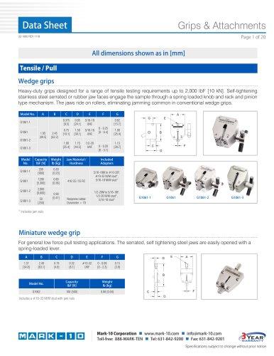 Grips & Attachments 90°peel fixture