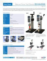 Manual Force Test Stands ES10 & ES20 - 1