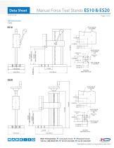 Manual Force Test Stands ES10 & ES20 - 2