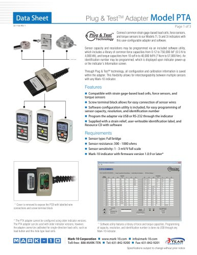 Plug & TestTM Adapter Model PTA