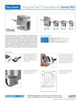 Plug and TestTM Force Sensors Series R01 - 1