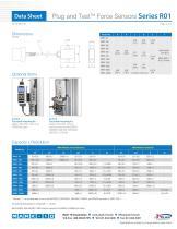 Plug and TestTM Force Sensors Series R01 - 2
