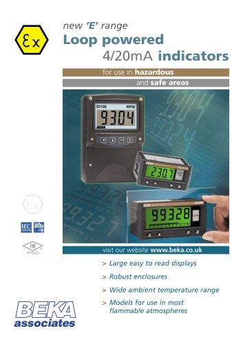 new 'E' range Loop powered 4/20mA indicators