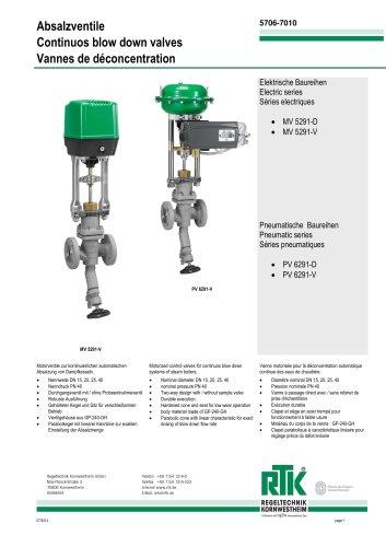 Continuous blowdown valve 5706-7010