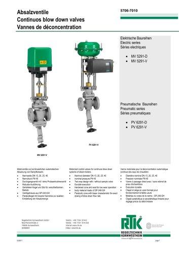 Continuous blowdown valve MV 5291