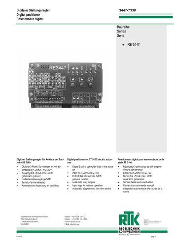 Digital Valve positioner RE 3447