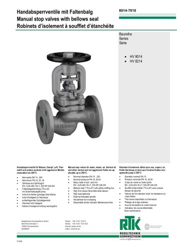manual stop valve