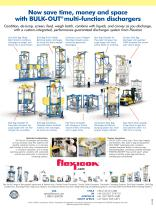 BULK-OUT Bulk Bag Dischargers provide dust-free loading, untying, retying and removal of bulk bags