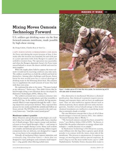 Mixing Moves Osmosis Technology Forward