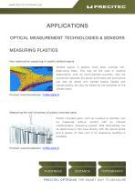 Applications Optical Measurement Technologies & Sensors