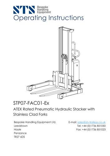 ATEX Pedestrian Stacker Truck - Operation Manual