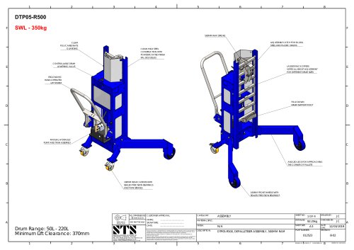 Corner Drum Lifting Trolley- Technical Specification