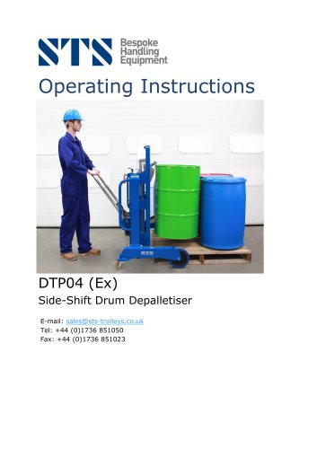 Drum / Barrel Mover (Side-Shift) - Operation Manual